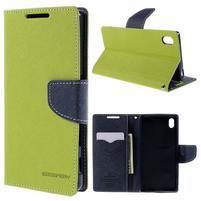 Mercur Peňaženkové puzdro pre Sony Xperia Z5 - zelené
