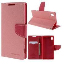 Mercur peněženkové pouzdro na Sony Xperia Z5 - růžové