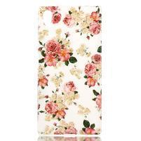 Softy gélový obal pre mobil Sony Xperia Z5 - kvetiny
