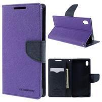 Mercur Peňaženkové puzdro pre Sony Xperia Z5 - fialové