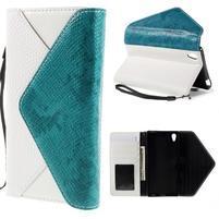 Stylové peněženkové pouzdro Sony Xperia Z5 - modré