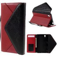 Štýlové Peňaženkové puzdro Sony Xperia Z5 - červené