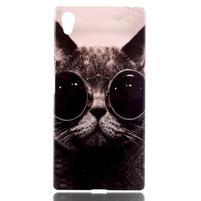 Softy gélový obal pre mobil Sony Xperia Z5 - cool kočká