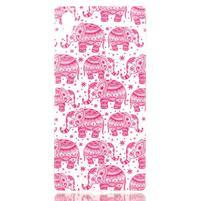 Softy gelový obal na mobil Sony Xperia Z5 - růžoví