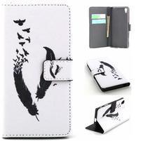 Cross Peňaženkové puzdro pre Sony Xperia Z5 - vtáčie pierka