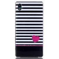 Blacky gélový obal pre mobil Sony Xperia Z5 - srdce