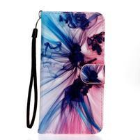 Koženkové puzdro pre mobil Sony Xperia Z5 - farebný dym