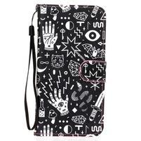 Koženkové puzdro pre mobil Sony Xperia Z5 - znaky