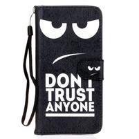 Koženkové puzdro pre mobil Sony Xperia Z5 - nedotýkať sa