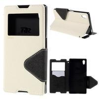 Diary puzdro s okienkom na Sony Xperia Z5 - biele