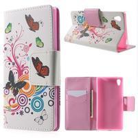 Lovely puzdro pre mobil Sony Xperia Z5 - kúzelní motýľe