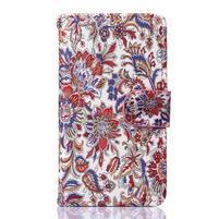 Sand puzdro pre mobil Sony Xperia Z5 Compact - retro kvetiny