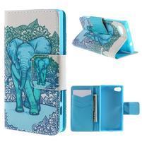 Diary Peňaženkové puzdro pre Sony Xperia Z5 Compact - slon