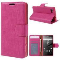 Grid Peňaženkové puzdro pre mobil Sony Xperia Z5 Compact - rose