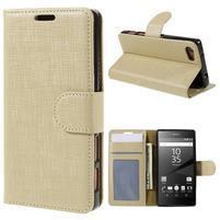 Grid Peňaženkové puzdro pre mobil Sony Xperia Z5 Compact - champagne