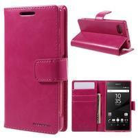 Bluemoon PU kožené puzdro pre Sony Xperia Z5 Compact - rose