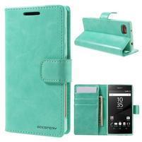Bluemoon PU kožené puzdro pre Sony Xperia Z5 Compact - cyan