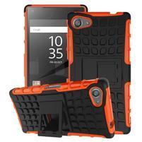 Outdoor odolný kryt pre mobil Sony Xperia Z5 Compact - oranžový