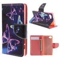Wally Peňaženkové puzdro pre Sony Xperia Z5 Compact - kúzelní motýľe
