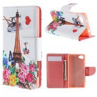 Wally peněženkové pouzdro na Sony Xperia Z5 Compact - Eiffelova věž