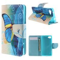 Wally peněženkové pouzdro na Sony Xperia Z5 Compact - motýl