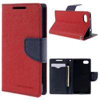 Fancy PU kožené pouzdro na Sony Xperia Z5 Compact - červené