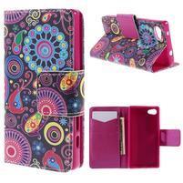 Diary Peňaženkové puzdro pre Sony Xperia Z5 Compact - flower