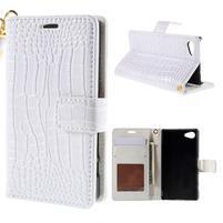 Croco Peňaženkové puzdro pre Sony Xperia Z5 Compact - biele