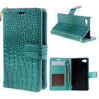 Croco Peňaženkové puzdro pre Sony Xperia Z5 Compact - modré