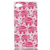Sally gélový obal pre Sony Xperia Z5 Compact - ružoví slony