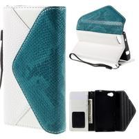 Stylové peněženkové pouzdro na Sony Xperia Z5 Compact - modré