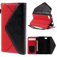 Štýlové Peňaženkové puzdro pre Sony Xperia Z5 Compact - červené