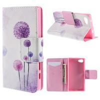 Diary Peňaženkové puzdro pre Sony Xperia Z5 Compact - púpavy