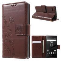 Butterfly Peňaženkové puzdro pre Sony Xperia Z5 Compact - hnedé