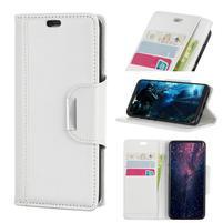 Wallet PU kožené peňaženkové puzdro na Xiaomi Mi 8 Lite - biele