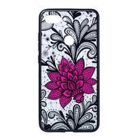 Flow hybridný obal na mobil Xiaomi Mi 8 Lite - veľký kvet