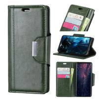Wallet PU kožené peňaženkové puzdro na Xiaomi Mi 8 Lite - zelené