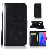 Dream PU kožené peňaženkové puzdro na Xiaomi Mi A2 Lite - čierne