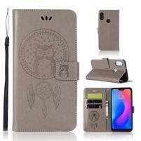 Dream PU kožené peňaženkové puzdro na Xiaomi Mi A2 Lite - sivé