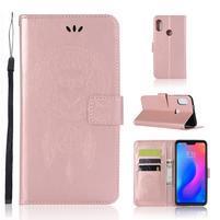 Dream PU kožené peňaženkové puzdro na Xiaomi Mi A2 Lite - rosegold
