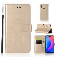 Dream PU kožené peňaženkové puzdro na Xiaomi Mi A2 Lite - zlaté