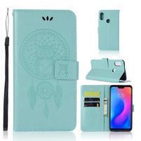 Dream PU kožené peňaženkové puzdro na Xiaomi Mi A2 Lite - svetlomodré
