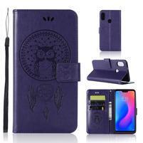 Dream PU kožené peňaženkové puzdro na Xiaomi Mi A2 Lite - fialové