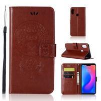 Dream PU kožené peňaženkové puzdro na Xiaomi Mi A2 Lite - hnedé