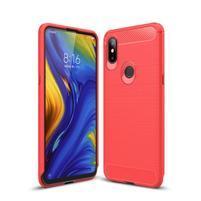 Carb odolný gélový kryt na Xiaomi Mi Mix 3 - červený
