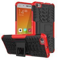 Odolný outdoor obal pre mobil Xiaomi Mi5 - červený