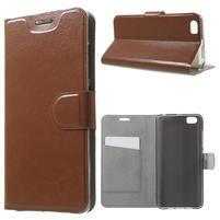 Horse peňaženkové puzdro pre mobil Xiaomi Mi5 - hnedé