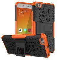 Odolný outdoor obal na mobil Xiaomi Mi5 - oranžový