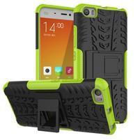 Odolný outdoor obal na mobil Xiaomi Mi5 - zelený