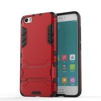 Hybridní odolný kryt pre mobil Xiaomi Mi5 - červený